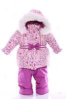 Зимний костюм Ноль Евро розовый с принцессой