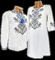 Мужская Рубашка Вышиванка  на домотканом хлопке Для пары р. 42 - 60