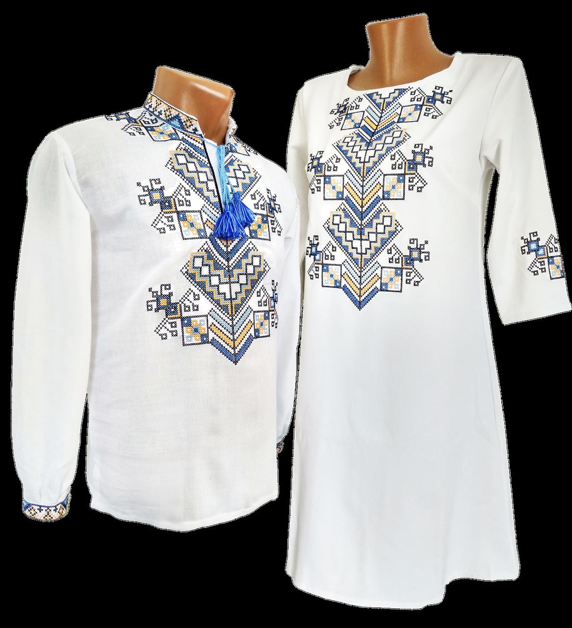 Платье женское Вышиванка для Пары на домотканом хлопке р.42 - 52