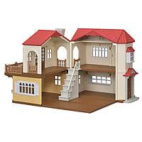 Дом в деревне красная крыша Sylvanian Families Calico Red Roof Luxury  Townhome Country Home