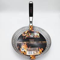 Сковорода гриль Eurohome - 30см, нержавеющая сталь, со складной ручкой