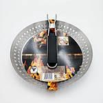 Сковорода гриль Eurohome - 30см, нержавеющая сталь, со складной ручкой, фото 2