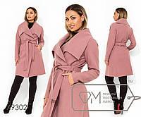 Кашемировое пальто на запах с воротником апаш и прорезными карманами, 3 цвета