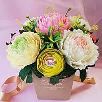 Букет из конфет Раффаэлло. Подарок для женщины, учителя,коллеги, подруги,жены,сестры,бабушки ,мамы.