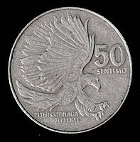 Монета Филиппин 50 сантимов 1986 г