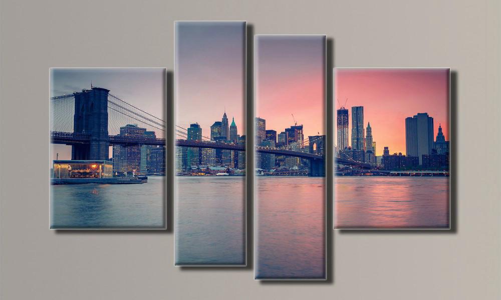 "Модульная картина ""New York City 4"" 87х132 см"