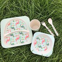 Бамбуковая посуда тукан детский набор Eco Bamboo 5 предметов, фото 1