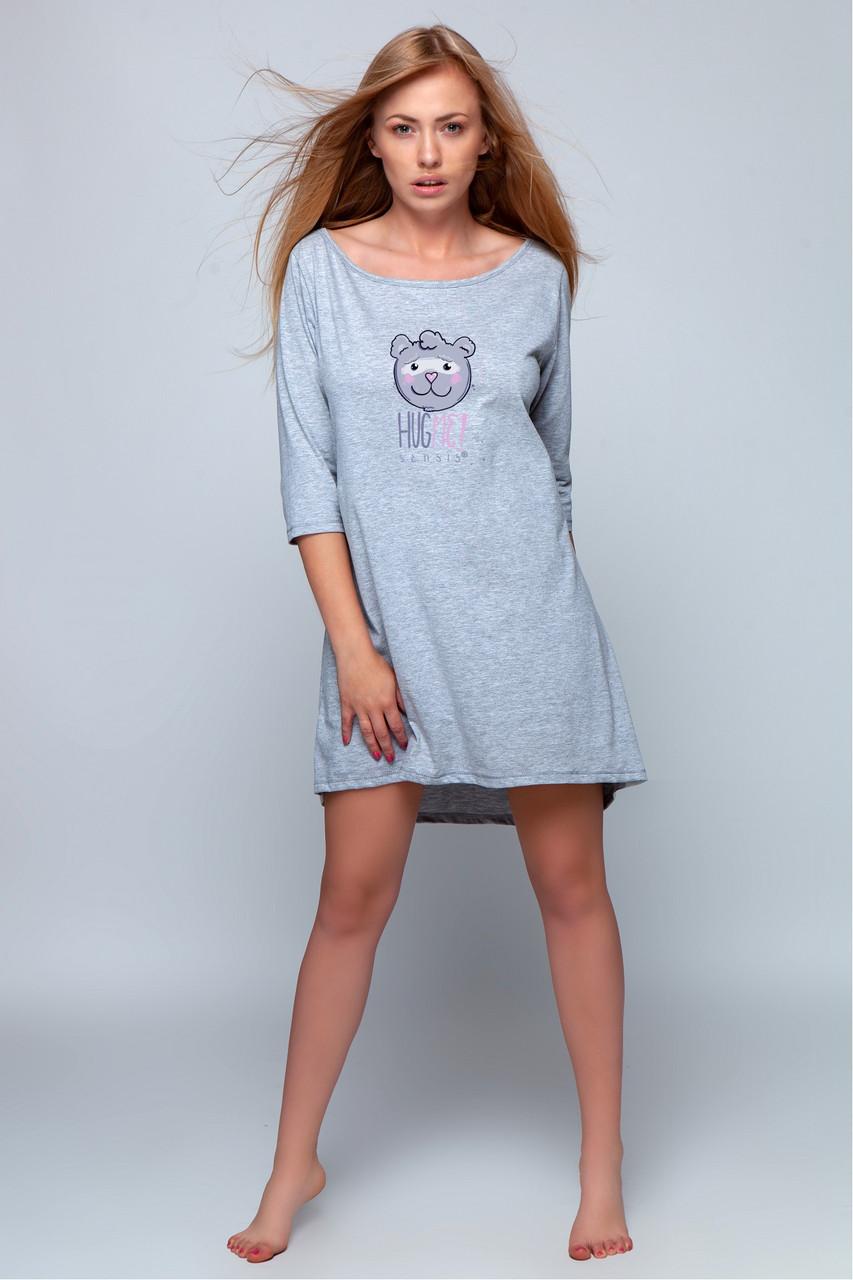 Женская ночная рубашка серый Sensis Mary