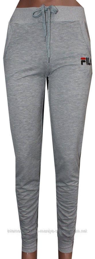 Спортивные штаны женские fila 44-52 полубатал (деми)