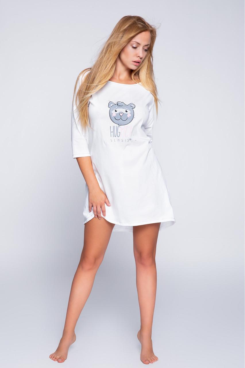 Женская ночная рубашка белый Sensis  Huq Me