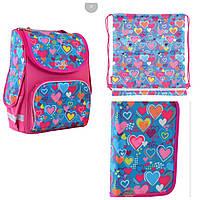 Набор рюкзак каркасный 555928, пенал 532030, сумка 556088 1 Вересня Smart Charms для девочки