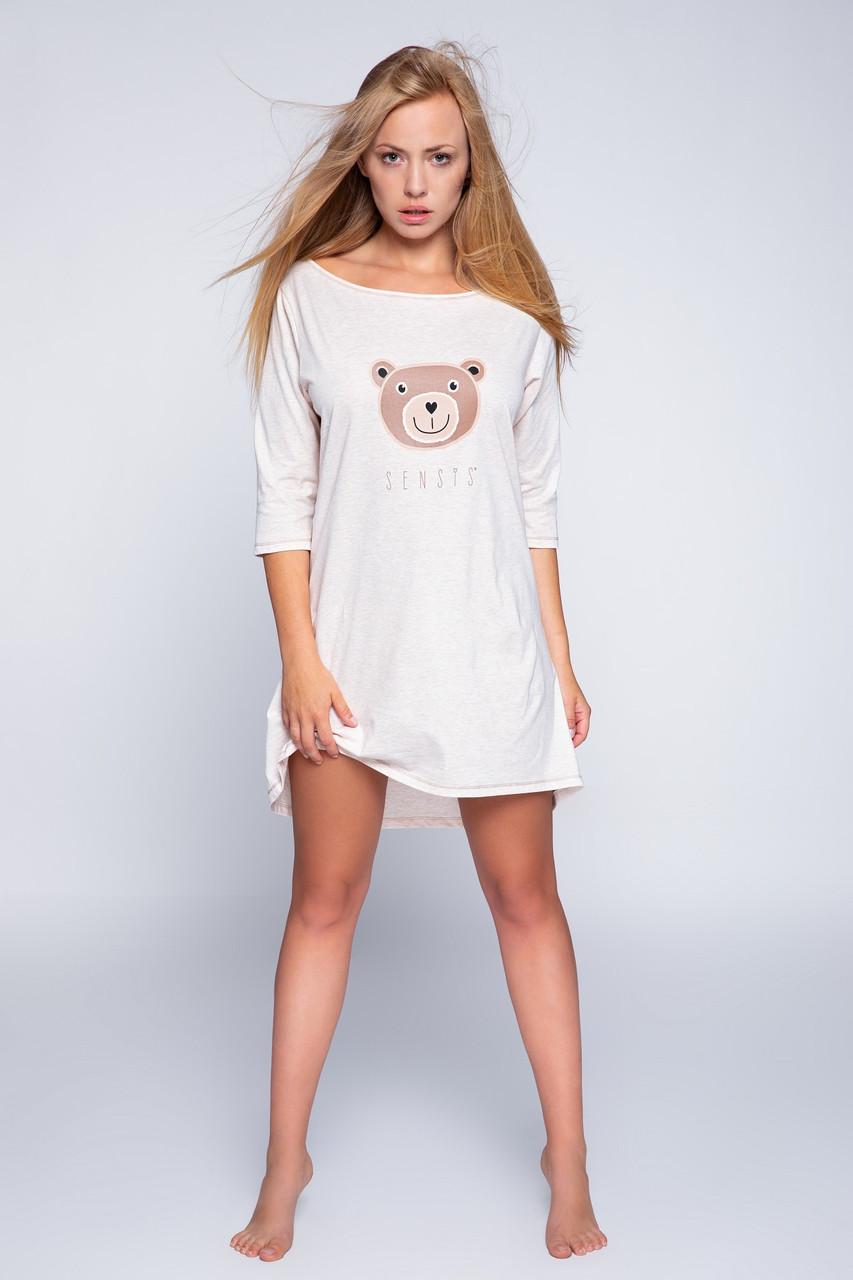 Женская ночная рубашка бежевый Sensis  Bear