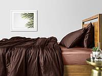 Комплект полуторного постельного белья сатин CHOCOLATE BEIGE-S