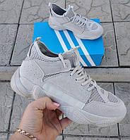 Мужские ботинки Adidas Yeezy Boost 500 Kanye West. Высокие кроссовки, полуботинки.