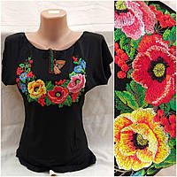 Женская вышитая футболка, трикотаж, р-ры S, M, 150 грн.