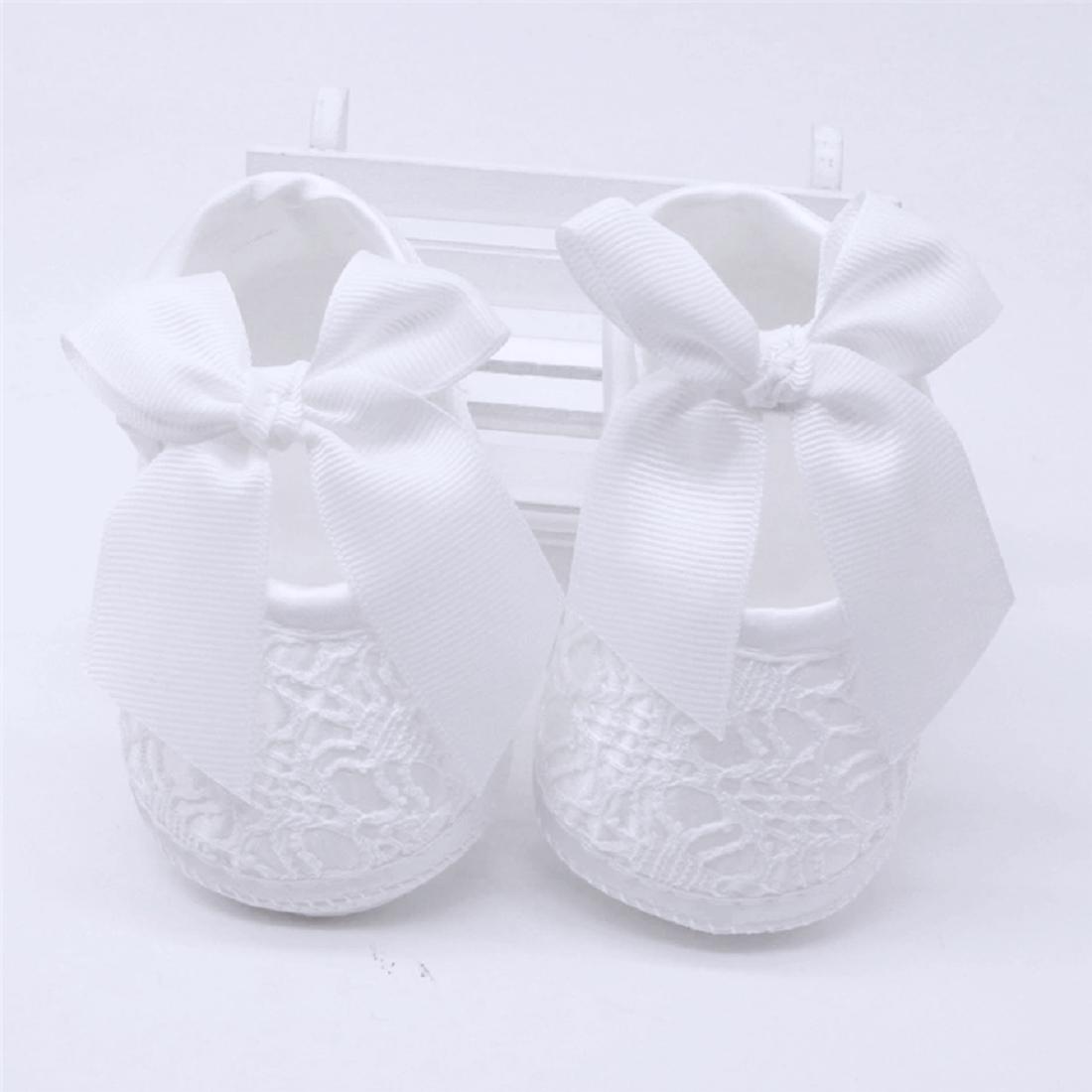 Нарядные пинетки для новорожденной девочки  на крещение, на праздник р.12(на 3-6 мес.), р. 13 (на 7-10 мес.)