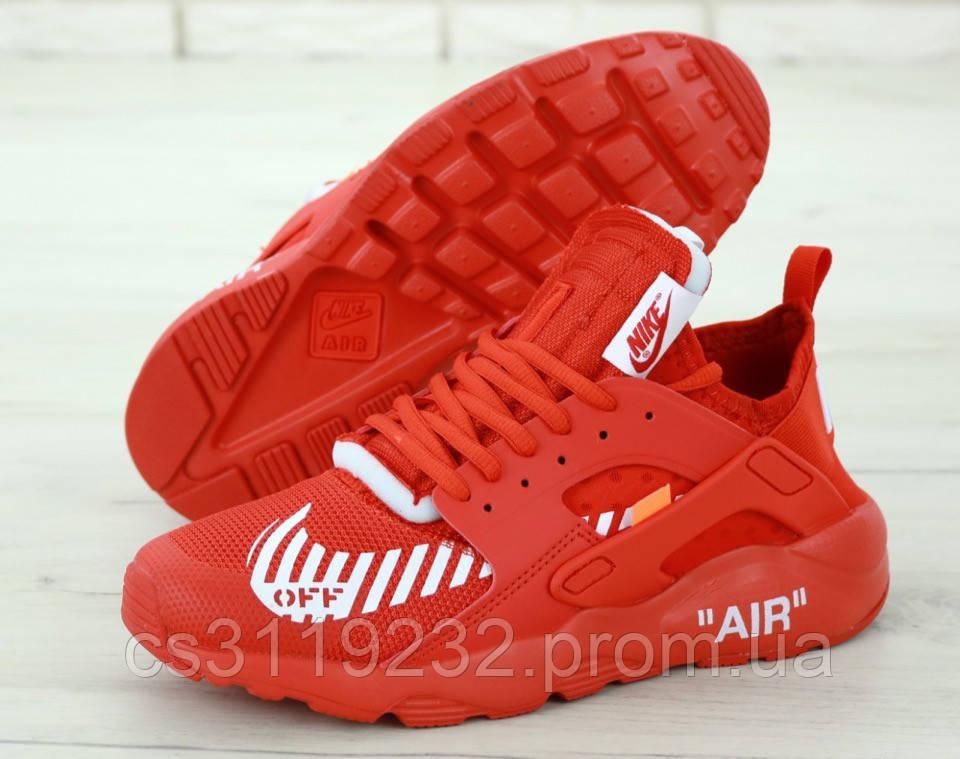 Мужские кроссовки Nike Air Huarache Off White (красные)