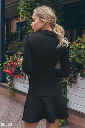 Платье-пиджак в классическом стиле цвет черный, фото 2