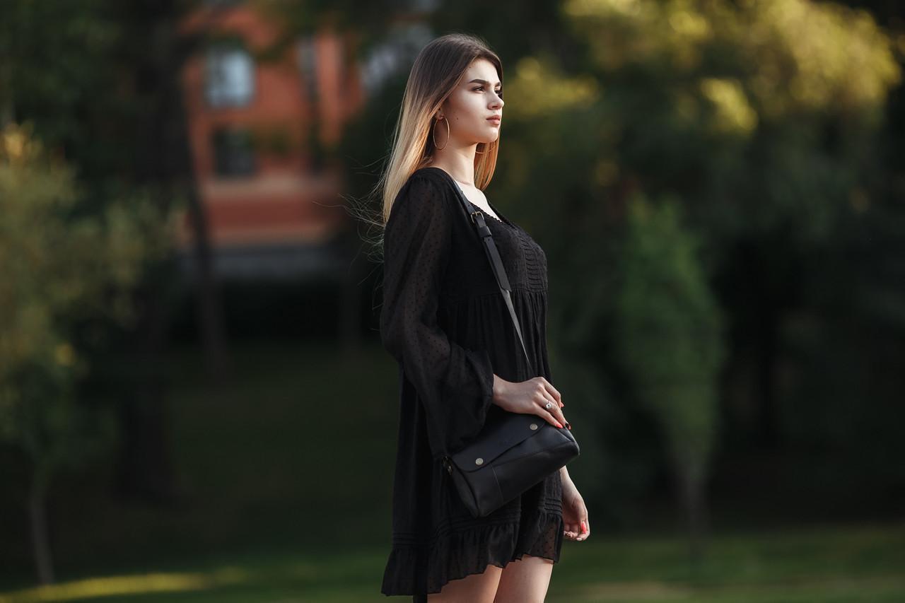 Женская сумка Френки Кожа Итальянский краст цвет Кофе