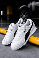 Мужские кроссовки Puma BMW White/Black, Реплика