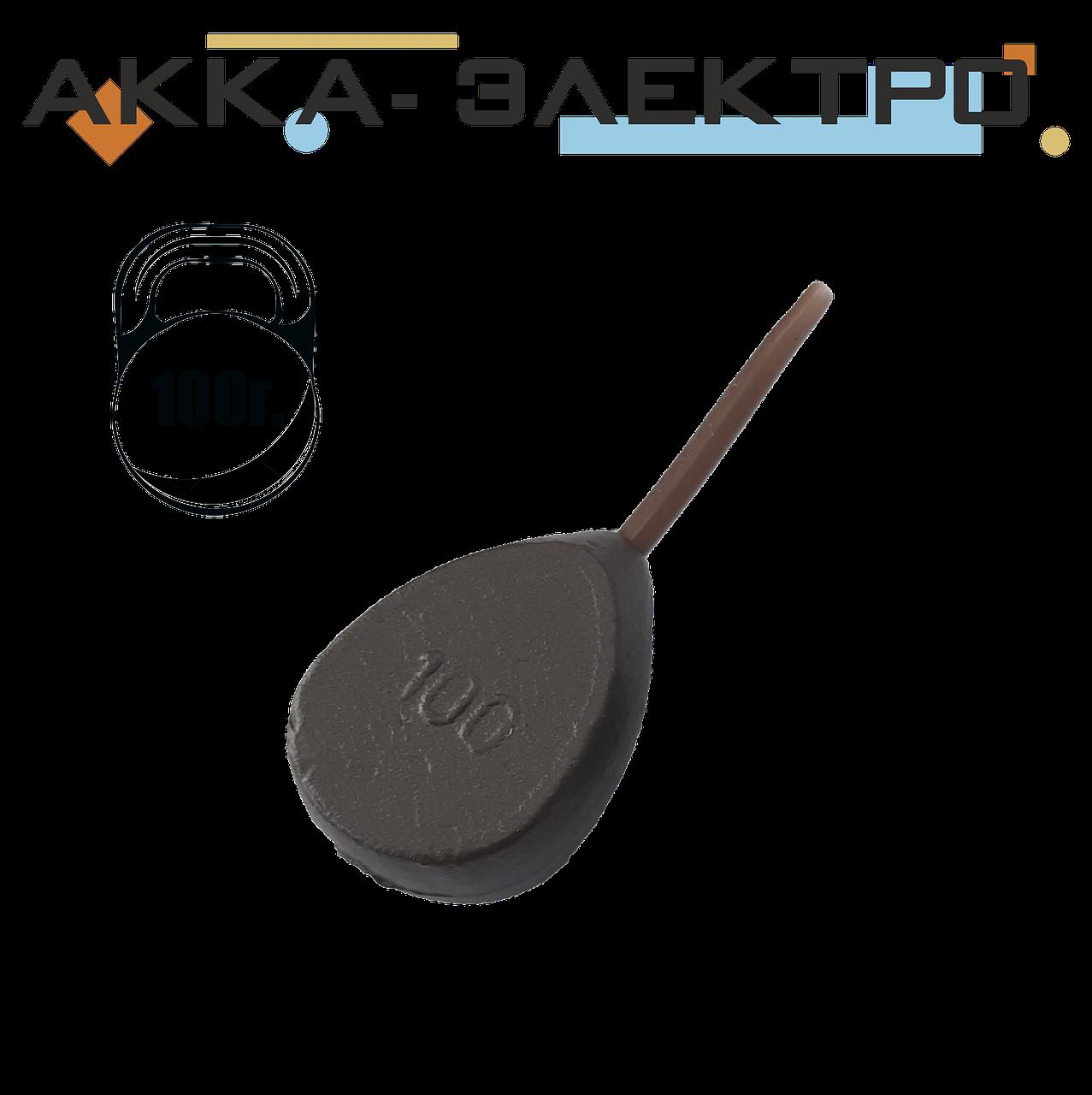 Груз карповый Плоский in-Line 100г (10 шт)