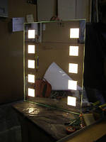 Зеркало с декоративной подсветкой на светодиодах
