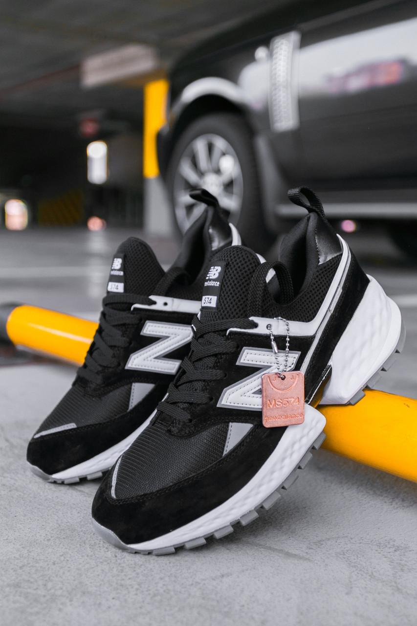 Мужские кроссовки New Balance 574 Sport 2019 Black/White, Реплика