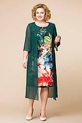 Платье женское Беларусь модель Р-1485-19 зеленое