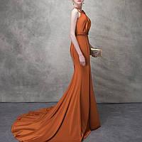 Красивое вечернее платье. Выпускное платье. Вечірнє плаття з відкритою спинкою