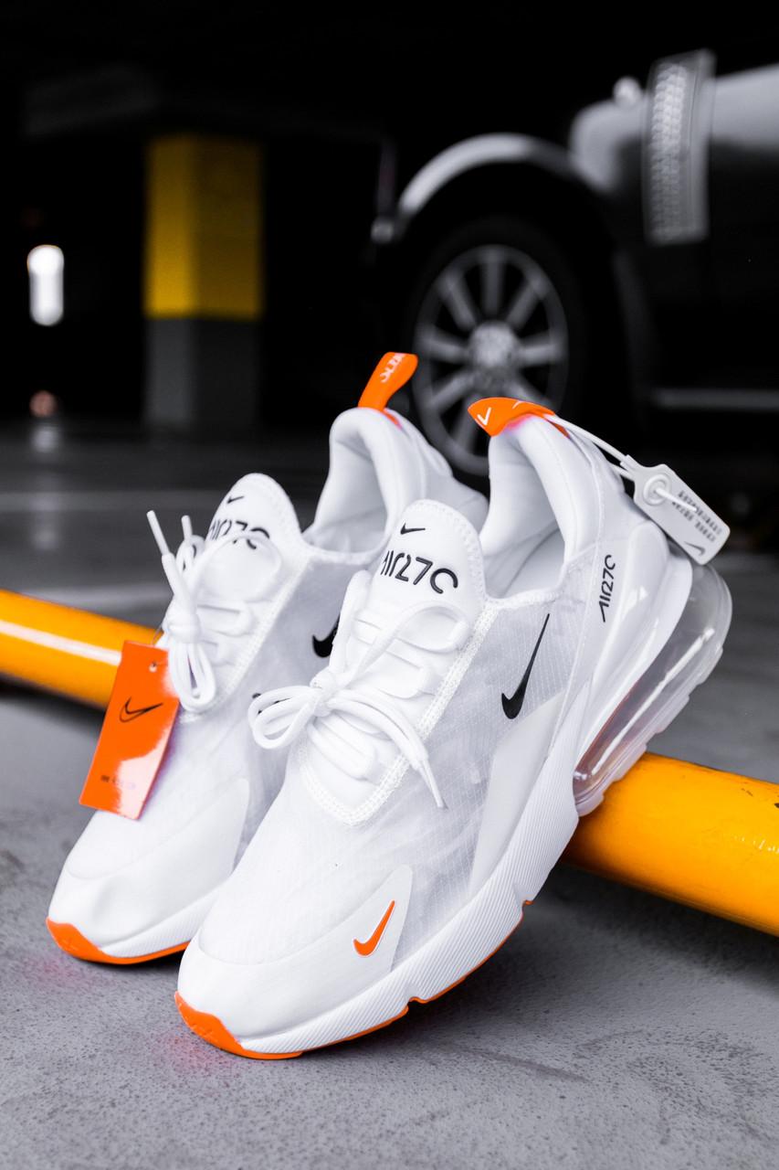Чоловічі кросівки Nike Air Max 270 White/Orange, Репліка