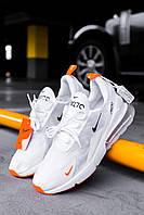 Чоловічі кросівки Nike Air Max 270 White/Orange, Репліка, фото 1