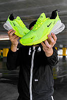 Мужские кроссовки Nike Air Max 270 GreenNeon/White , Реплика, фото 1