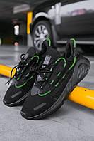 """Чоловічі кросівки Adidas Lexicon """"Black/Green"""", Репліка, фото 1"""