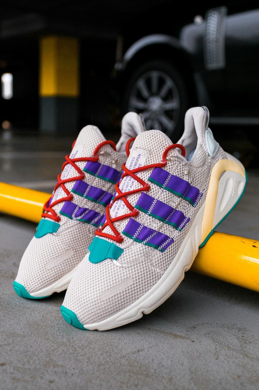 Мужские кроссовки Adidas Lexicon White/Blue/Black, Реплика