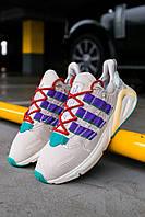 Мужские кроссовки Adidas Lexicon White/Blue/Black, Реплика, фото 1