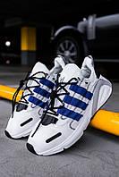 Чоловічі кросівки Adidas Lexicon White/Blue/Black, Репліка, фото 1
