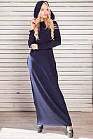 """Платье женское ангоровое с капюшоном и карманами, размеры 42-46 (5цв)""""VALERIYA"""" недорого от прямого поставщика"""