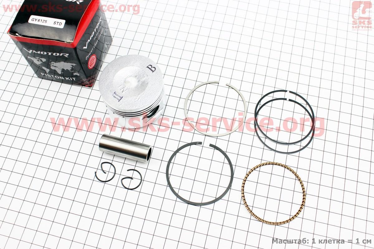 Поршень, кольца, палец к-кт 125cc 52,4мм STD (палец 15мм)