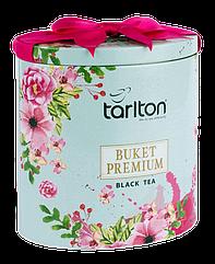 Подарунок на 8 Березня   Чай чорний листовий Тарлтон Букет Преміум 100 г у жерстяній банці