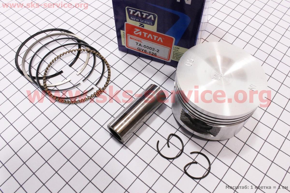 Поршень, кольца, палец к-кт 125cc 52,4мм +0,50 (палец 15мм)