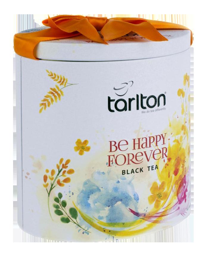 Чай черный крупнолистовой Тарлтон Be Happy Forever 100 г в жестяной банке