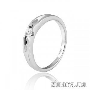 Кольцо из белого золота с бриллиантом 30784