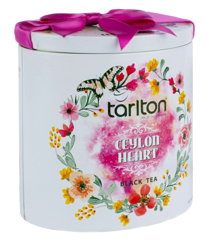 Бюджетный подарок к празднику | Чай черный Тарлтон Сердце Цейлона 100 г в жестяной банке
