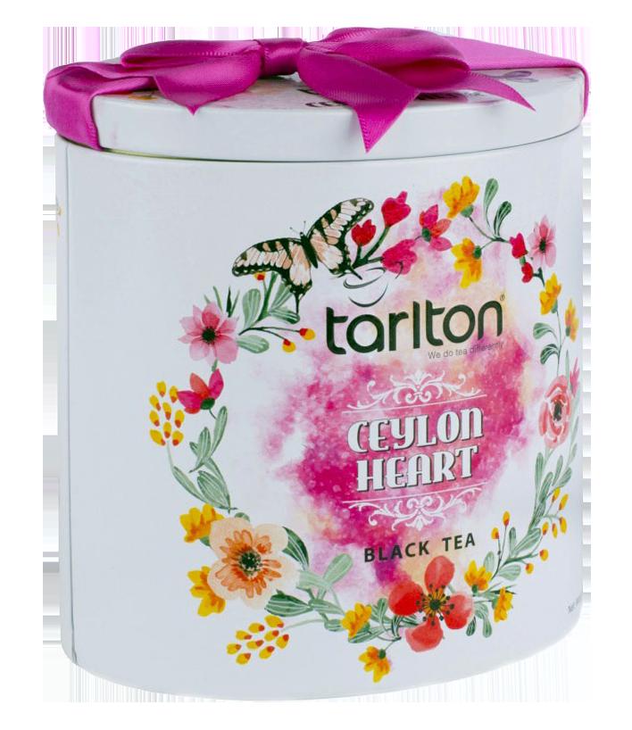 Бюджетный подарок на 8 Марта | Чай черный Тарлтон Сердце Цейлона 100 г в жестяной банке