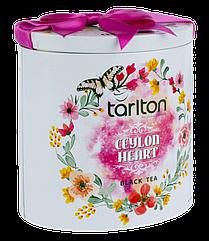 Бюджетный подарок к празднику   Чай черный Тарлтон Сердце Цейлона 100 г в жестяной банке