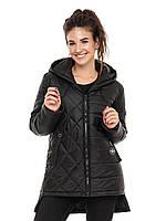 ✔️ Демисезонная женская куртка парка 44-56 размера черная, фото 1