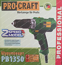 Сетевой шуруповерт Procraft PB1350 (2-х скоростной)