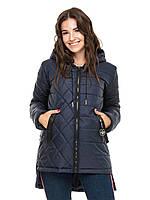 ✔️ Демисезонная женская куртка парка 44-56 размера синяя