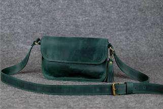 Сумочка Берті Вінтажна шкіра колір Зелений, фото 2