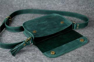 Сумочка Берті Вінтажна шкіра колір Зелений, фото 3
